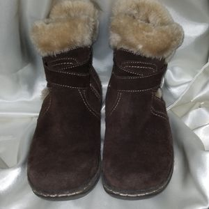 Brown suede BareTrap stay dry system boots